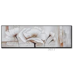 White Picture Modern Abstract Canvas Painting Home Living Room Bedroom Dining Room Wall Art Oil Painting Handmade Pictures Abstract Canvas, Canvas Art Prints, Canvas Wall Art, Canvas Paintings, Navy Blue Wall Art, Flower Canvas Art, Dining Room Wall Art, Wall Art Pictures, White Picture