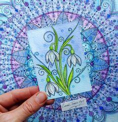 Mini Snowdrop Print ACEO size от SarahTravisArt на Etsy