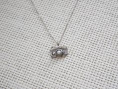 Give Me A Big Smile Snapshot Camera Silverplated by earringsgirl