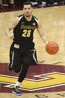 Fred Van Vleet, # 23 - Wichita State's Point Guard & Head Coach on the basketball floor!  #PLAYANGRY