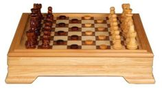 """Mark 12"""" Seven Classic Games Collection in Maple Wooden Case by Best Chess Set. $34.95. checkers/backgammon pieces diameter: .75 in.. king's height: 2.5 in.. case dimensions: 12x12x2.5 in.. domino pieces dimensions: 1.18x.5x.2 in.. chess board square size: 1.18 in.. You will never get bored again with the Mark Games Set which includes seven most popular classic games of all times all in one set. The lid of the natural wooden case is a board for chess and checkers and when ..."""