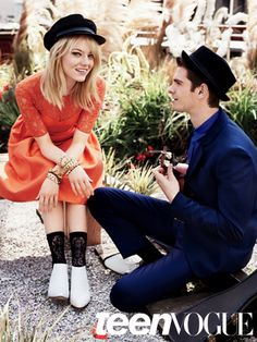 Teen Vogue August 2012 cover stars Emma Stone and Andrew Garfield
