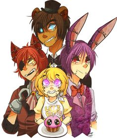 Five nights at Freddys Gijinka by Mangopoptart.deviantart.com on @deviantART