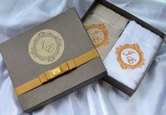 Toalhas personalizadas + caixa luxo