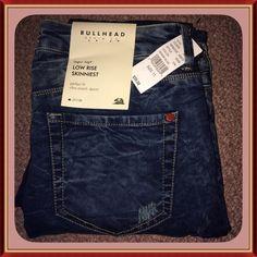 BULLHEAD Skinny Jeans PAC SUN BullHead Denim Co. Stretch Jeans Very soft Low Rise Skinniest perfect fit ultra stretch denim.Inseam 30'' BULLHEAD Jeans Skinny