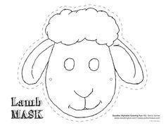Sheep mask template - Buscar con Google                                                                                                                                                     More