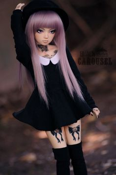 *゚ ゜゚*☆*゚ ゜゚*☆*゚ ゜゚*☆*゚ ゜゚* ☆*゚ ゜゚*☆*゚ ゜゚*☆*゚ ゜゚*☆*゚ ゜゚* Babydoll style Wednesday Addams dress with peter pan collar. Tshirt cotton (100%),