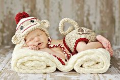Newborn sock monkey