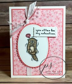 Hey Love Valentine's Day card using Stampin' Up! products  Margie's Crafts