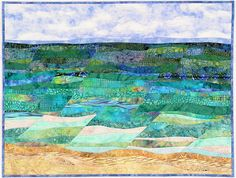 A nice free form landscape with gorgeous color choices and curved piecing.