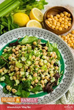 You have to try this delicious and healthy Lemon Chickpea Salad! For more recipes, tune in weekdays at 10a/9c on Hallmark Channel!