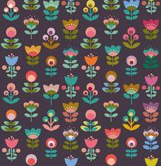 Des fleurs et des murs - Eliza Cope - Pretty Patterns, Beautiful Patterns, Flower Patterns, Color Patterns, Pattern Flower, Design Patterns, Retro Pattern, Pattern Art, Vintage Pattern Design