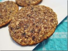 Protein powder cookies - protein powder, dates, walnuts, egg whites, shredded coconut