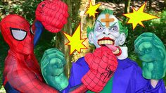 Spiderman vs JOKER Boxing Ring SUPERHEROES! w/ Hulk Spidey CHALLENGE Fun...