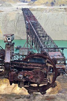 Giant, abandoned, monsters coal mine, Ukraine