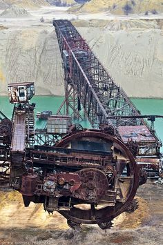 abandoned coal mine, Ukraine