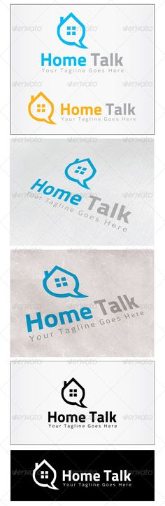 Home Talk  Logo Design Template Vector #logotype Download it here:  http://graphicriver.net/item/home-talk-logo/4566489?s_rank=253?ref=nexion