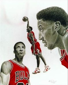 Scottie Pippen Chigago Bulls, Chicago Tattoo, Sports Drawings, Scottie Pippen, Hoop Dreams, Funny Tattoos, Sports Graphics, Sports Art