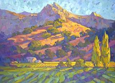 Chimney Rock, Napa Valley by Beverly Wilson Oil ~ 30 x 40