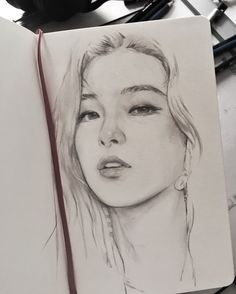Exquisite Learn To Draw A Realistic Rose Ideas. Creative Learn To Draw A Realistic Rose Ideas. Kpop Drawings, Pencil Art Drawings, Realistic Drawings, Art Drawings Sketches, Cute Drawings, Arte Sketchbook, Portrait Sketches, Wow Art, Sketch Painting