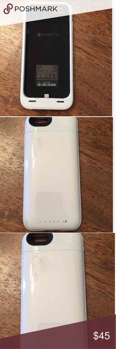 """iPhone 6 100% Extra Battery Pack Used- Good Condition; used for about 2 weeks. Will see if I can add a link, of a video of the item working. Charger can be added- doesn't mean it will be the original """"mophie charger"""". Any MICRO USB charger will work. mophie Accessories Phone Cases"""