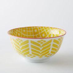 Folk Pad Printed Serving Bowls | west elm