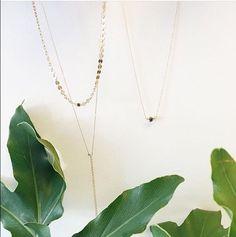 Our latest obsessions @maridajewelry 14kg chokers & long necklace    . .  #atdawnoahu #honoluluboutiques #hawaii #alamoana