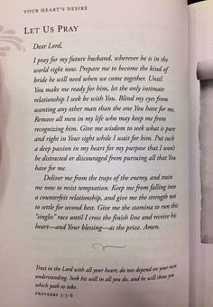 """Amen!! This is perfect. I highly recommend purchasing this book, """"your heart's desire"""", by Sheri Rose Shepherd."""