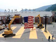 The Knitting Machine Installation at Mass MoCa, Massachusetts - Dave Cole