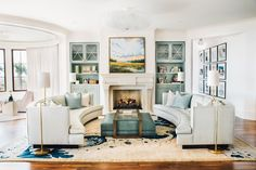 Totally loving this coffee table! This glamorous South Carolina home by designer Cortney Bishop gives new meaning to the phrase beach house.