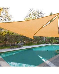 Swimming Pool Shade Ideas swimming pool canopy 2x 16 5 Triangle Sun Shade Sail Patio