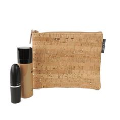 Pouch in Cork Dash Gold can fit small makeup items too!