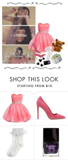 """""""Pity Party"""" by weirdestgirlever ❤ liked on Polyvore featuring Dee Keller, Monsoon and Butter London"""