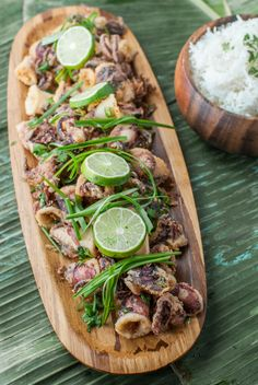Incredibly savory Cantonese salt & pepper squid. Deep-fried battered squid chunks that are then tossed with chile peppers, garlic, and scallions.         Read More