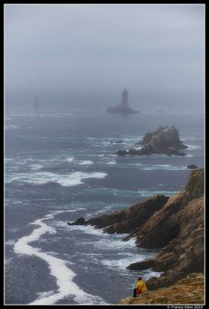 *Lighthouse in the Fog - Brittany, France