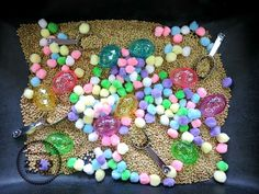 Easter Sensory Table from Teaching 2 and 3 Years Olds @Sheryl @ Teaching 2 and 3 Year Olds