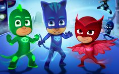 PJ-Masks - Stitch up some superhero PJ's!  Decals and masks  through easy?  Bonnie leggings (M4M) and 90 minute shirts (MADE?) in knit for pajamas.