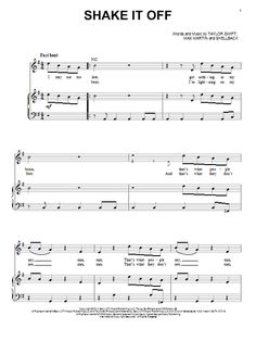 shake it off piano sheet music pdf