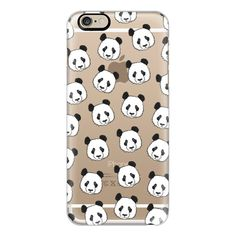 iPhone 6 Plus/6/5/5s/5c Case - PANDAS (£28) ❤ liked on Polyvore featuring accessories, tech accessories, cases, iphone case, iphone cover case, slim iphone case and apple iphone cases