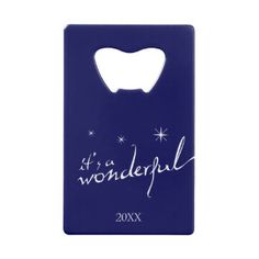 It's a Wonderful Life, Modern Holiday Credit Card Bottle Opener