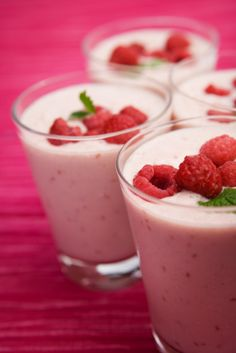 Peachy Keen Raspberry: 1 c raspberries, 1 c peaches, 1 c milk, 1/4 c almonds and 1 t honey