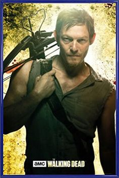 The Walking Dead Poster und Kunststoff-Rahmen - Daryl Dixon (91 x 61cm)