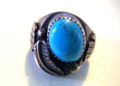 Beautiful Vintage Turquoise and Sterling Silver Ring by parkledge, $175.00