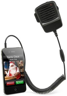 ThinkGeek :: CB Radio iPhone Handset - This is kinda awesome! :) @Brittany Sinclair - Mossy Oak to Penske OVER! LOL!