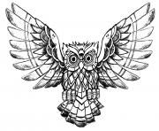 Print advanced owl raw drawing coloring pages
