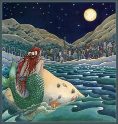 Illustration by Katie Thamer Treherne from 'The Little Mermaid' by Hans Christian Andersen; Houghton Mifflin Harcourt P., 1989