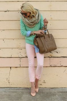 Love her color combination!
