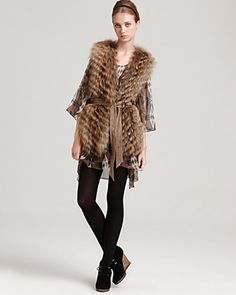 Fur Vest- I must have one this winter!