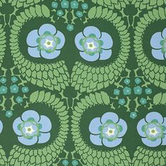 "SAAB015.8PINE Amy Butler Violette French Twist Pine HOME Dec Designer Quilting 55"" HY Rowan Westminster Half Yard 18"" Quilt Sewing Fabric by KinshipQuilters on Etsy"