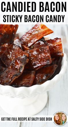 Candied bacon, an amazing recipe to enjoy bacon and get a kick of sugar, is just the sweet chewy deliciousness you have been waiting for your entire life. Move over man candy cause bacon candy just arrived and taken the stage. Candied Bacon Recipe, Bacon Recipes, Candy Recipes, Cooking Recipes, Candied Pecans, Barbecue Pork Ribs, Bbq, Brittle Recipes, Bacon Brittle Recipe